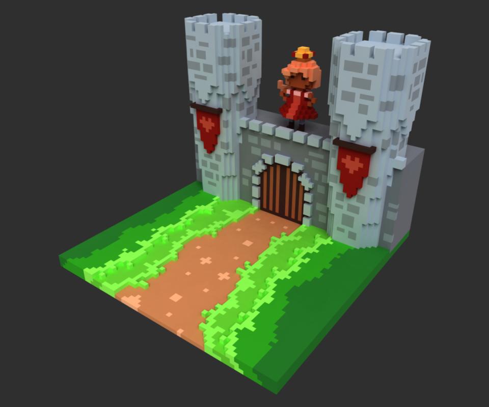 CastleWallVoxel1