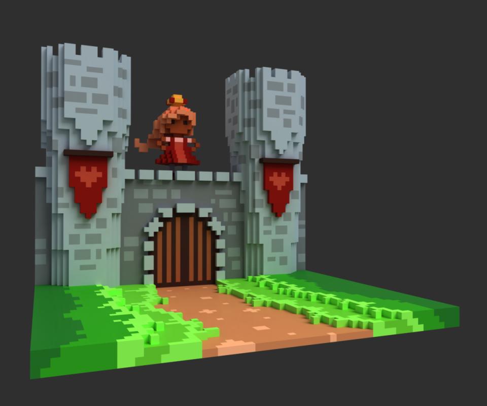 CastleWallVoxel2