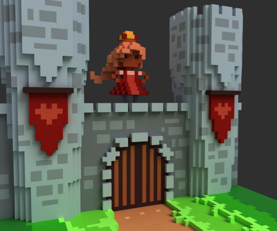CastleWallVoxel3