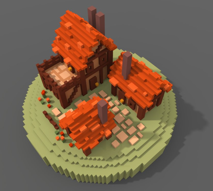 voxel town